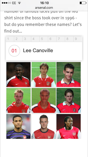 arsenal fc website