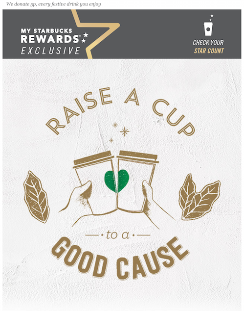 starbucks charitable email