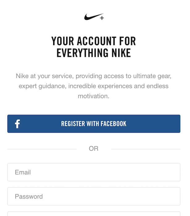 nike registration