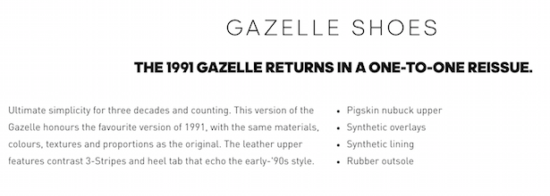 adidas product description