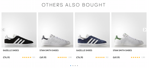 adidas recommendations