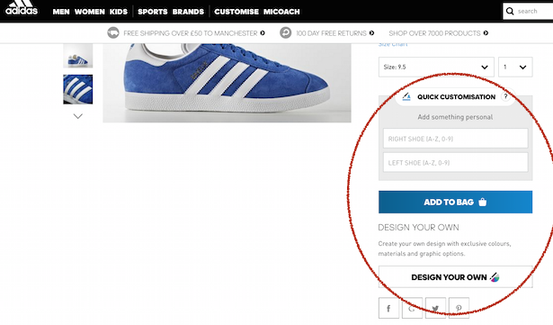 adidas product page