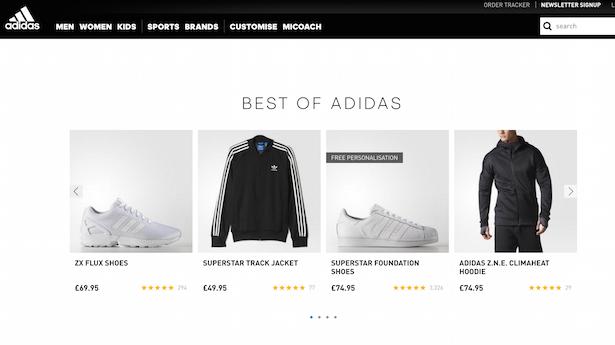 adidas homepage