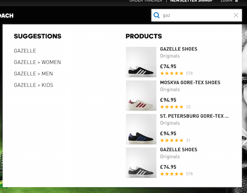 adidas search