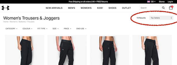 under armour category