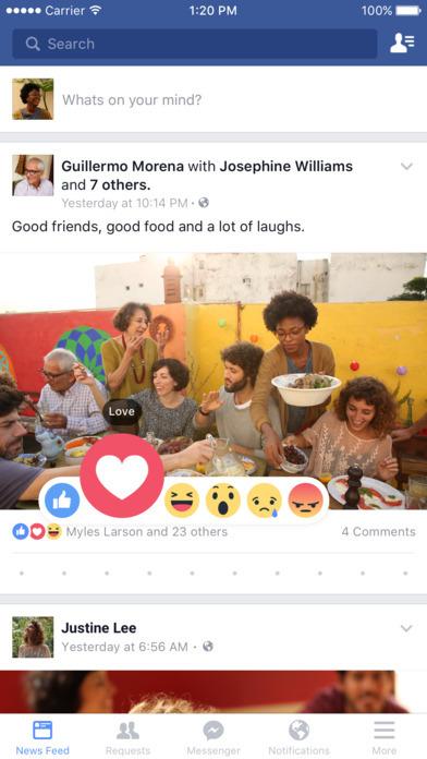 facebook app 2016