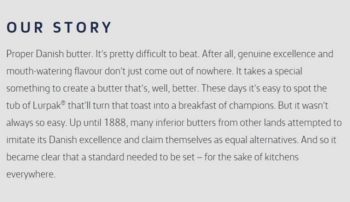 Four food brands with delicious copywriting