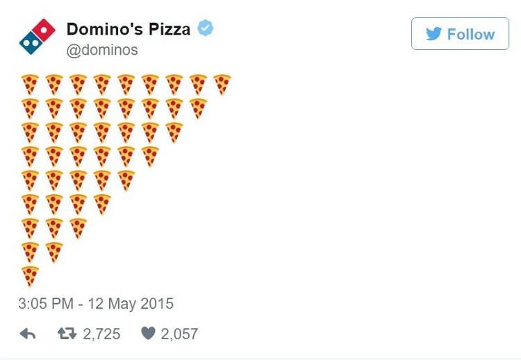 cómo usar emojis para pedir pizza