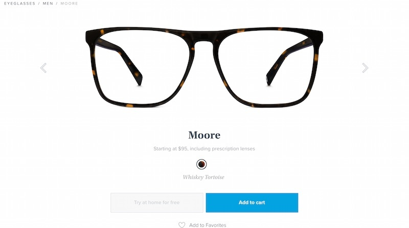 warby product page
