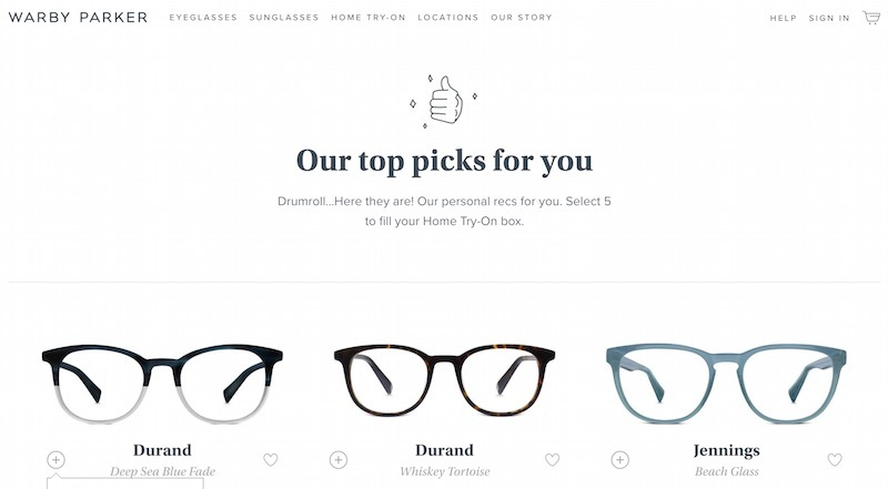 top picks warby