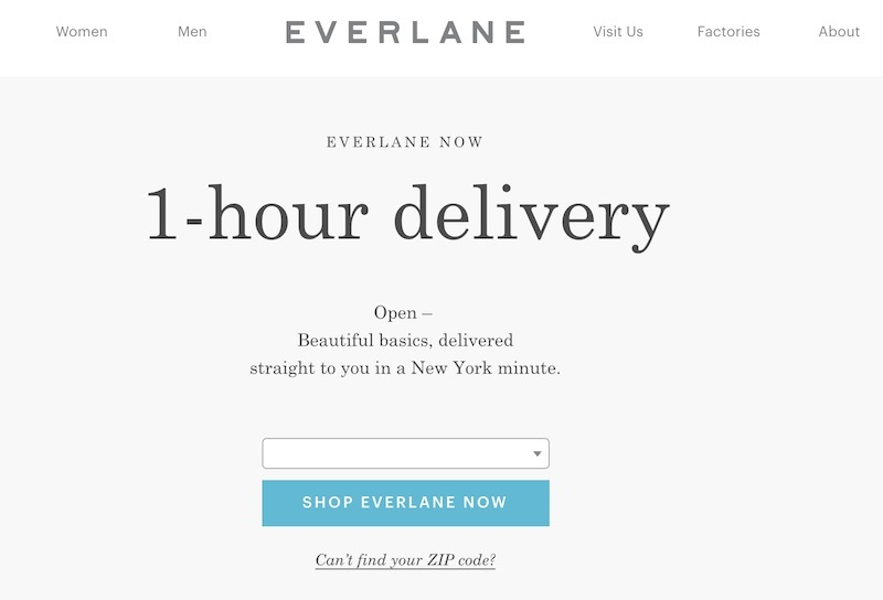 everlane delivery