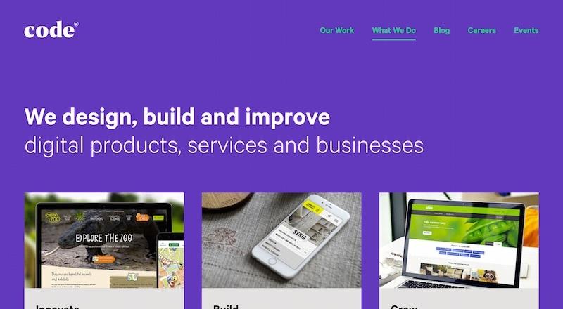 code homepage
