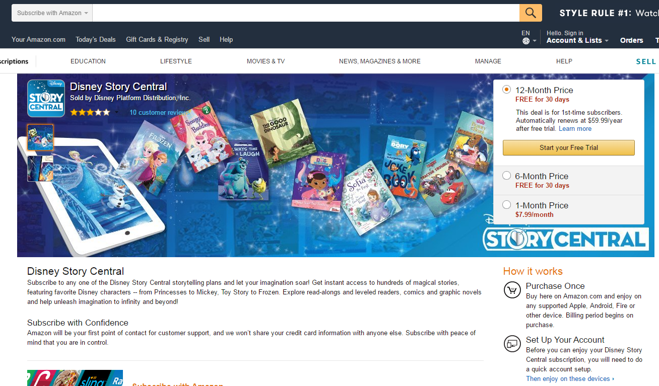 amazon subscriptions