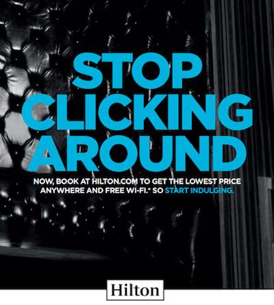 hilton stop clicking around