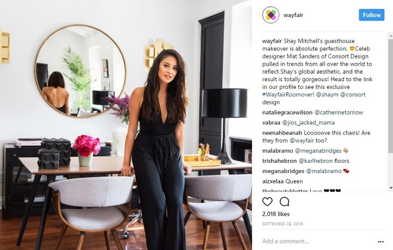 five lessons retailers can learn from wayfair s instagram. Black Bedroom Furniture Sets. Home Design Ideas
