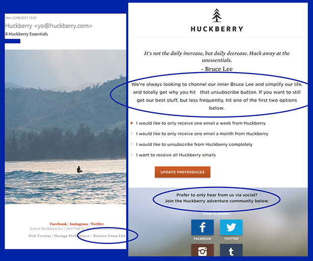 huckberry unsubscribe