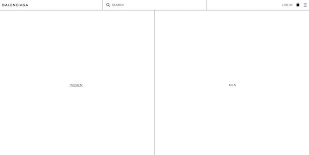 balenciaga homepage