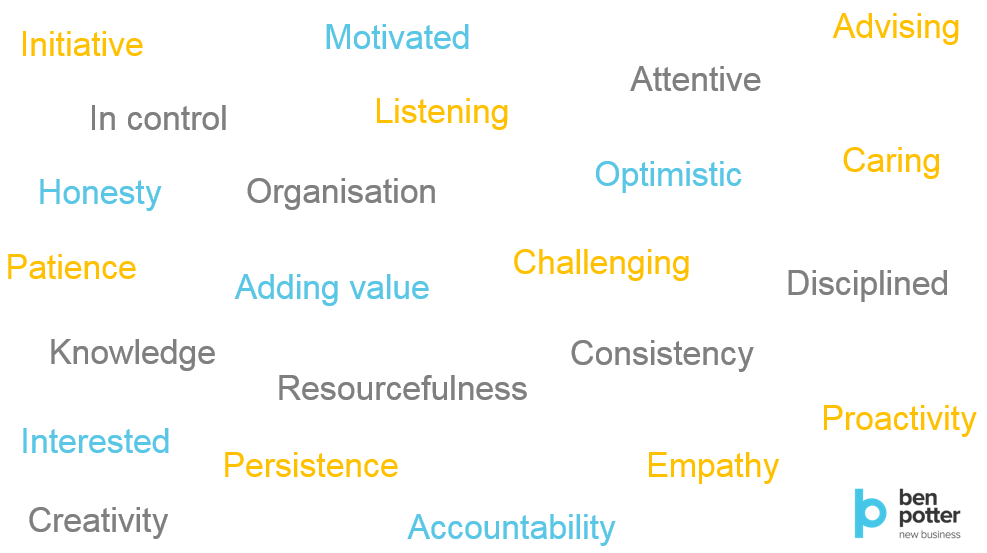 Attitudes, behaviours and skills of successful BDMs