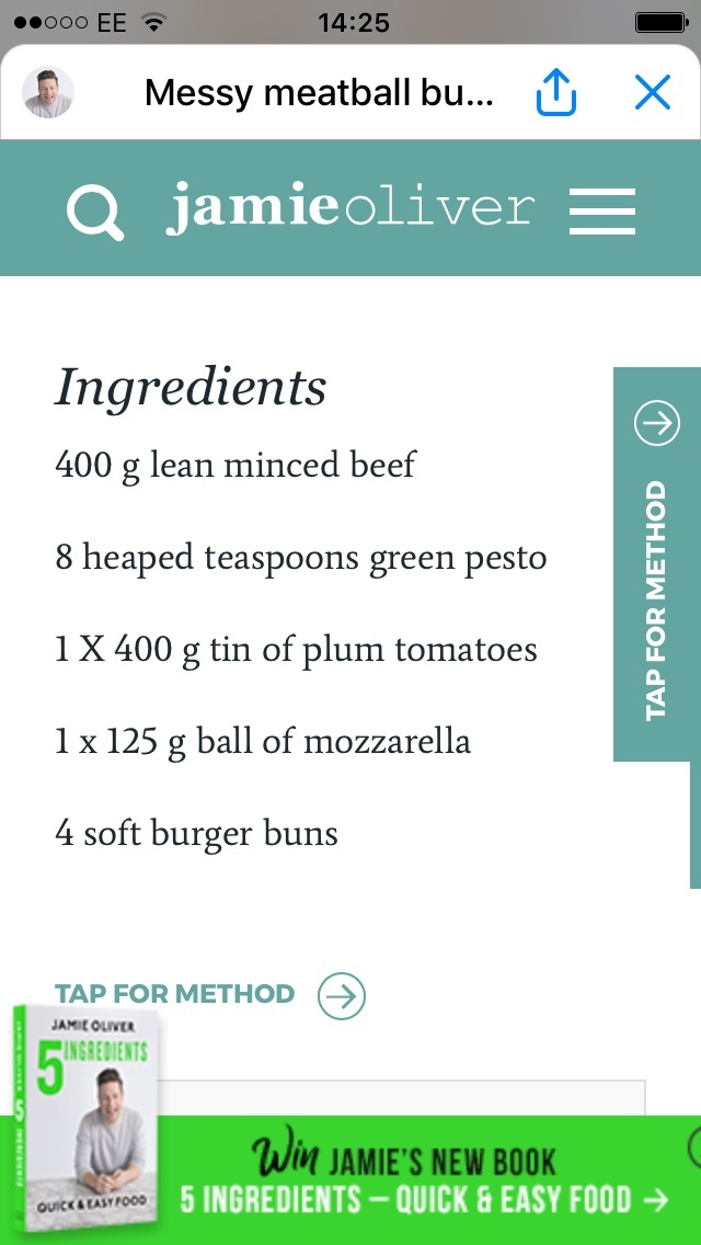 recipe jamie oliver chatbot
