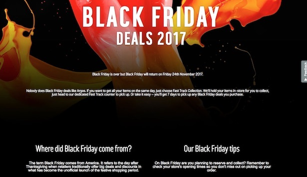argos black friday page