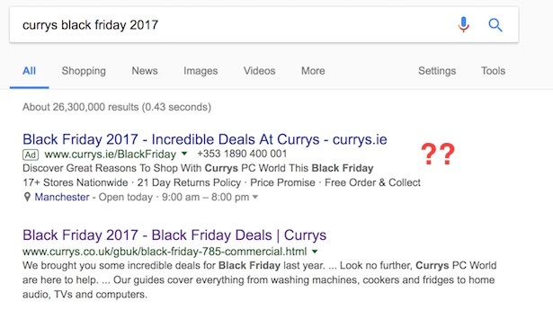 currys black friday search