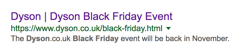 dyson serps black friday