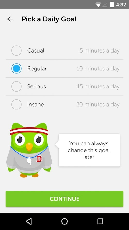 duolingo goal