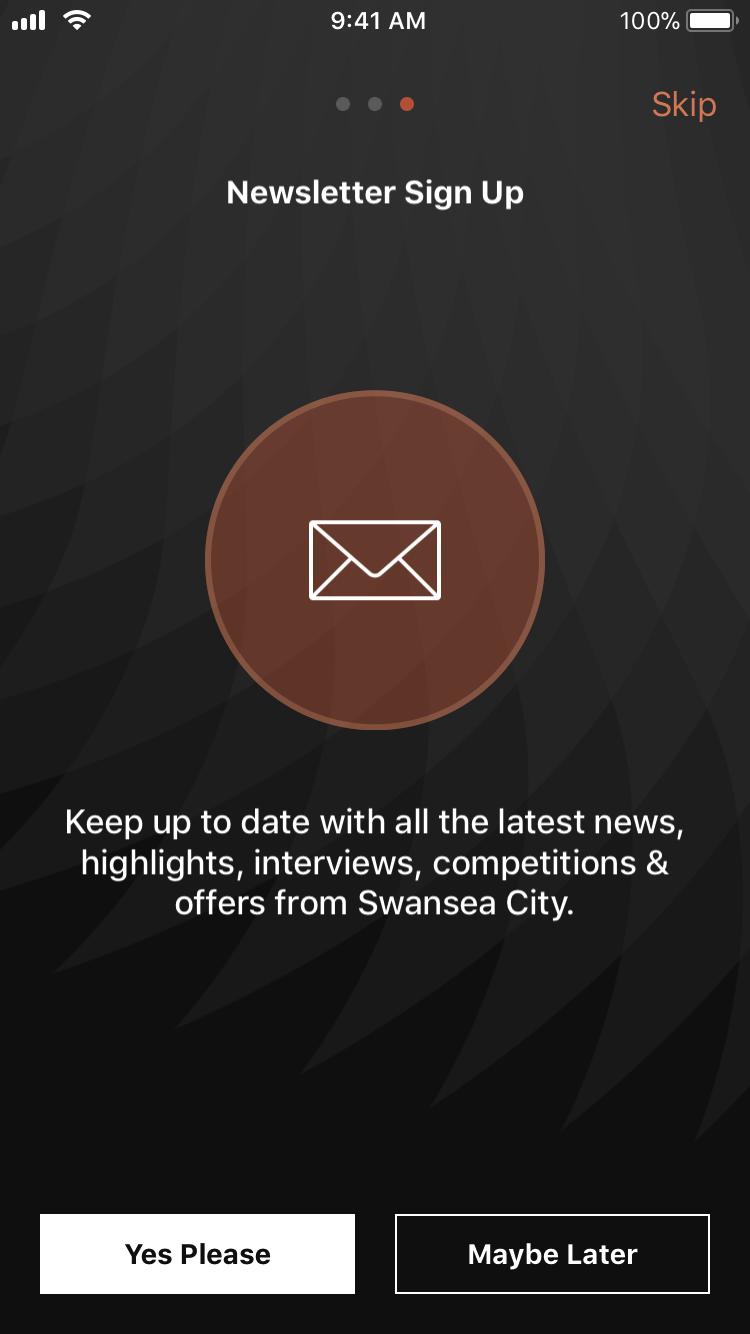swansea app newsletter signup