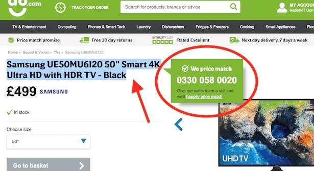 ao.com price match