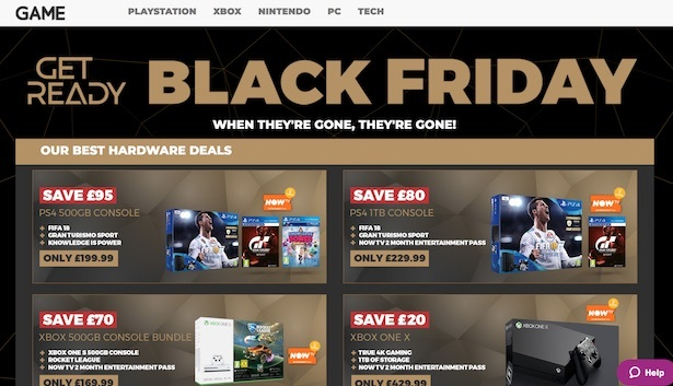homepage game black friday