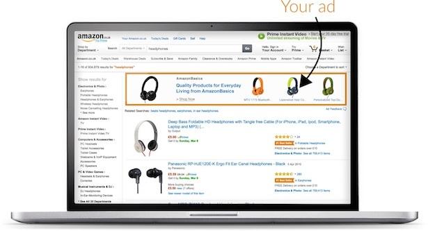 headline search ad amazon