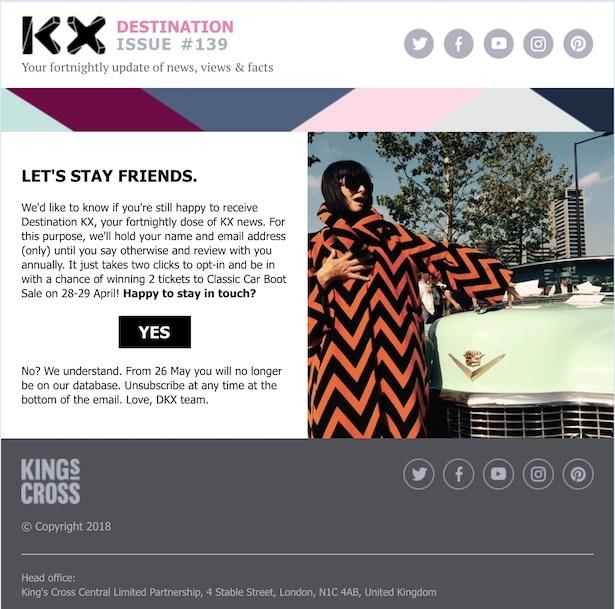 kings cross gdpr email
