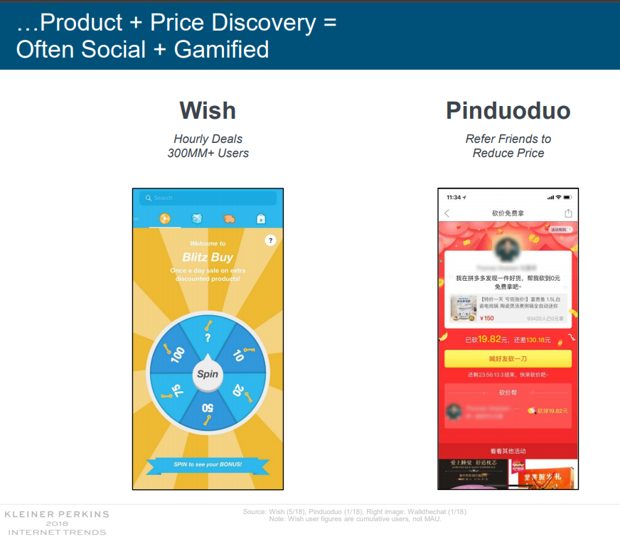 Pinduoduo product discovery