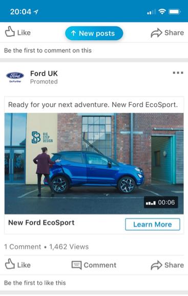 linkedin ford ad