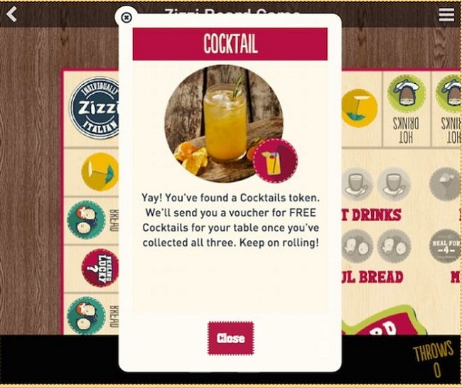 zizzi gamification voucher