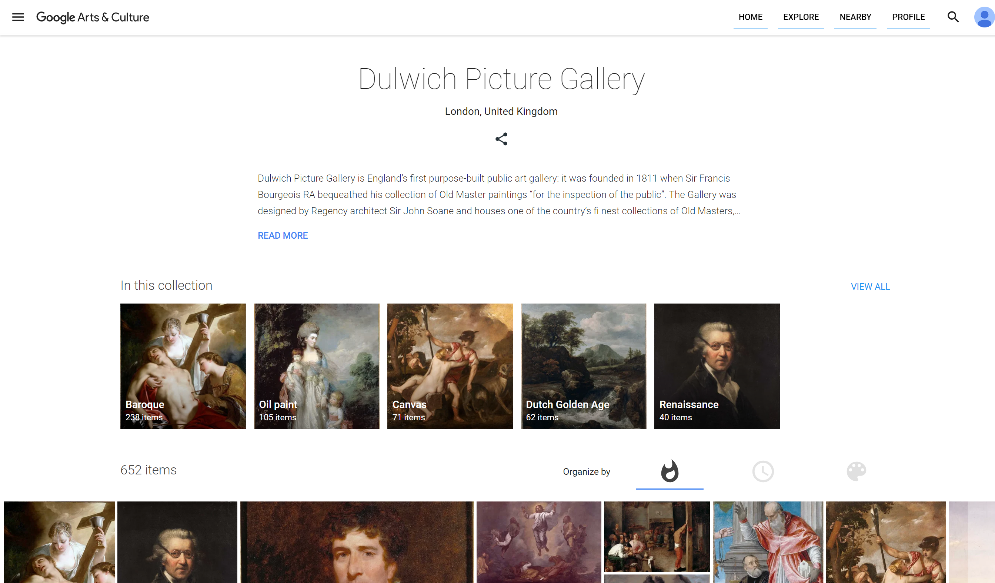 Dulwich Picture Gallery Google Arts and Culture