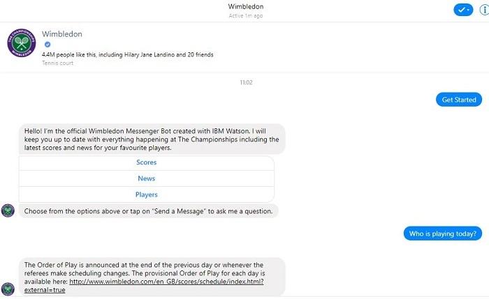Wimbledon chatbot