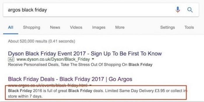 Argos meta description