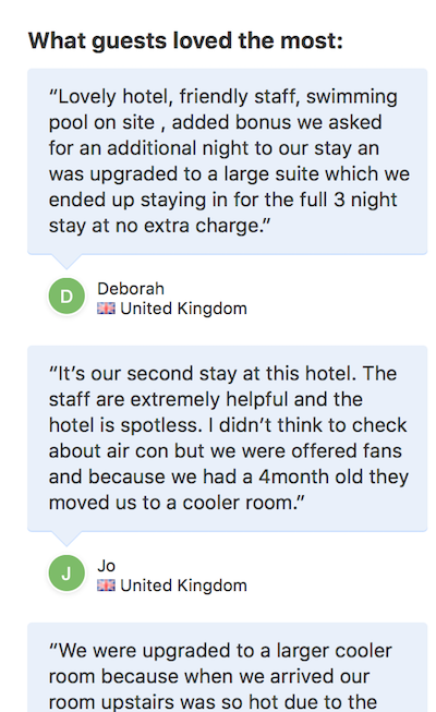what guests loved most booking.com