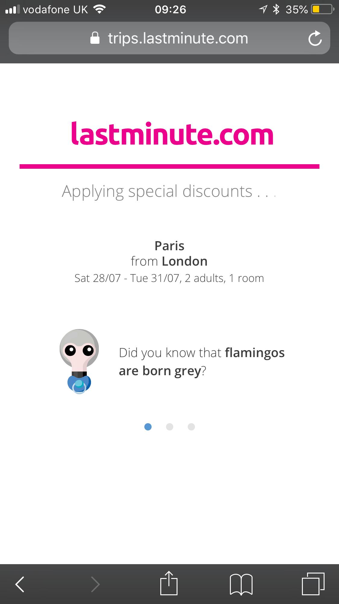 lastminute.com loading