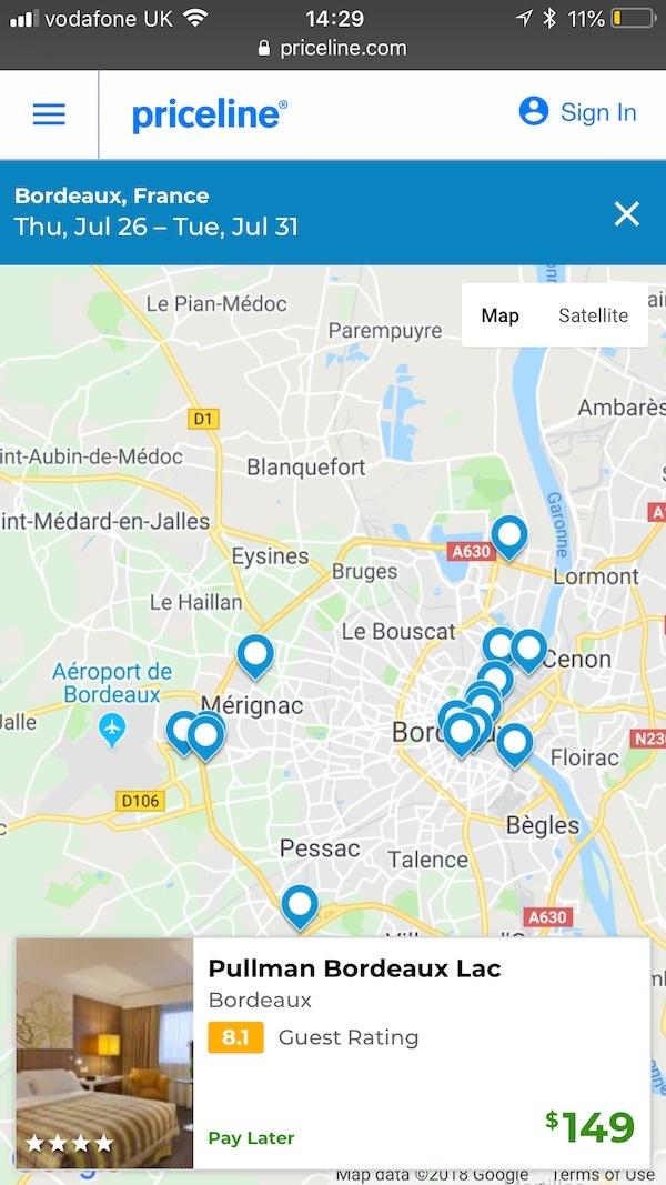 priceline maps