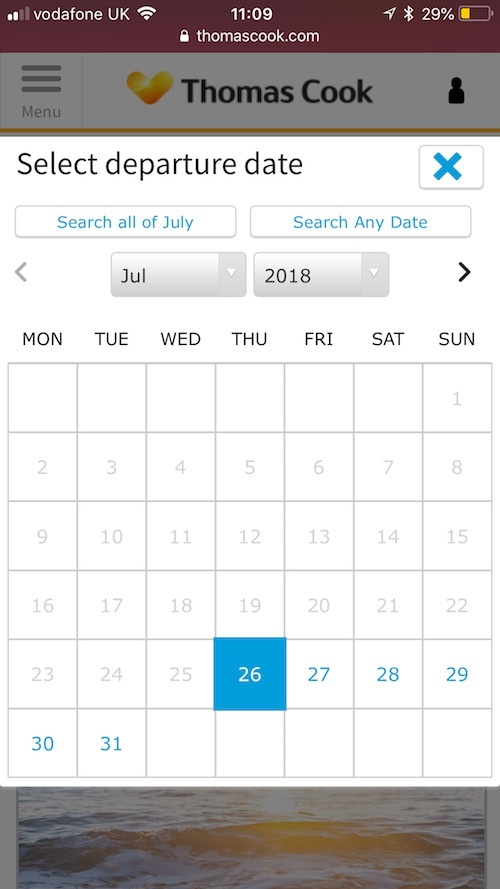 thomas cook calendar