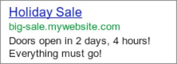 google ad countdown
