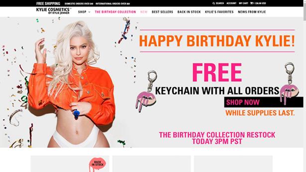 kyliecosmetics homepage