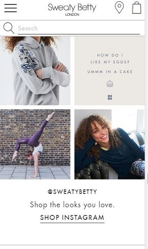 sweaty betty instagram shop