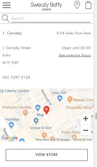 sweaty betty store locator