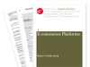 Cover for E-commerce Platforms Buyer's Guide 2009
