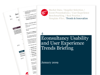 Cover for Usability and User Experience Trends Briefing January 2009