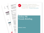 Cover for Online PR Trends Briefing January 2009