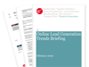 Cover for Online Lead Generation Trends Briefing February 2009